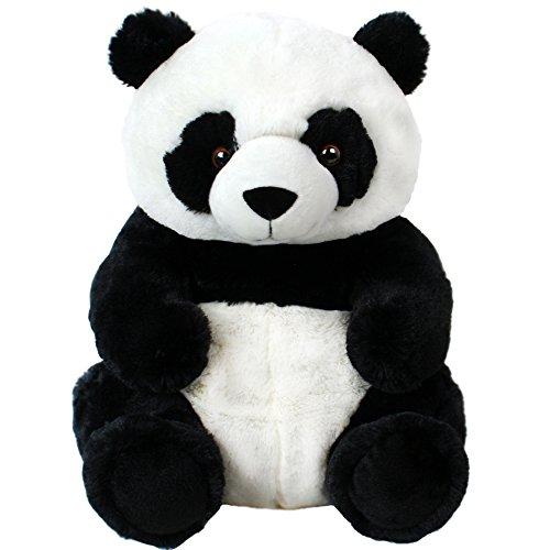 TE-Trend 17509 Plüschtier Panda Bär Teddy Pandabär Pandateddy Plüsch Kuscheltier Stofftier 33 cm Schwarz Weiß