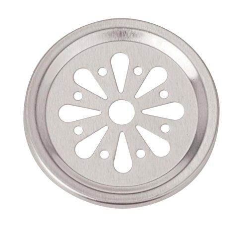 Glorex Einlegescheibe Streuer, Aluminum, Silber, 14.5 x 8.5 x 1 cm