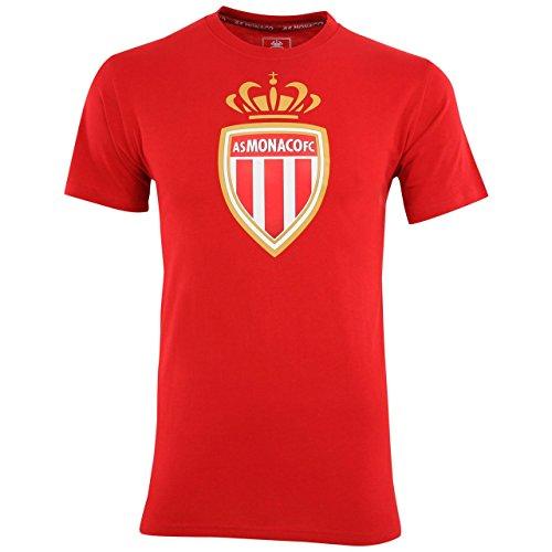 AS Monaco - T-shirt da uomo, stile retrò, collezione ufficiale dell'AS Monaco, Uomo, rosso, S