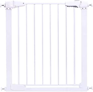 L TSA Safety Gates Extra Tall Pressure Fit Pet 75-84cm Wide  110cm Extra Tall New Unique 90  Two Way Open Stay Door  Includes Auto Close Fuction White