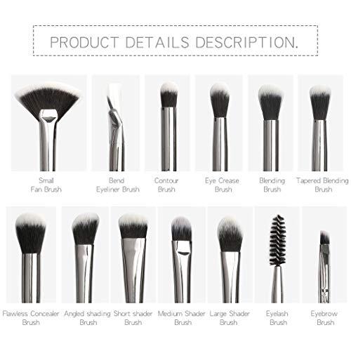 S-TROUBLE 12PCS Maquillage Brush Set Foundation Blush Face Poudre Ombre À Paupières Kit Cosmétique Doux