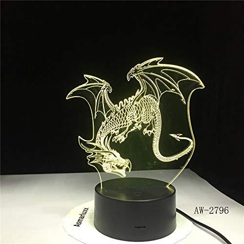 Flying Dragon Night Mesa de Cambio de Color de luz Gu Long Artista lámpara de decoración del hogar Directamente Entera