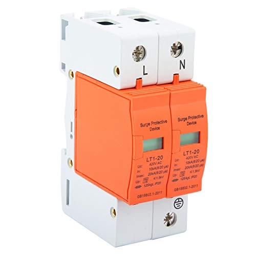 Dispositivo pararrayos, dispositivo pararrayos de bajo voltaje protector contra sobretensiones de la casa 2P 10kA-20kA 420vAC