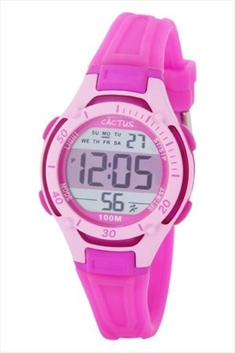 処方する不潔湿ったカクタス CACTUS キッズウォッチ 腕時計 デジタル ピンク CAC-82-M55