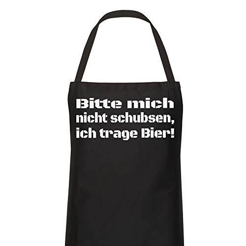 König Schürze - Bitte Mich Nicht schubsen, ich trage Bier! - Grillschürze Kochschürze Lustig Fun
