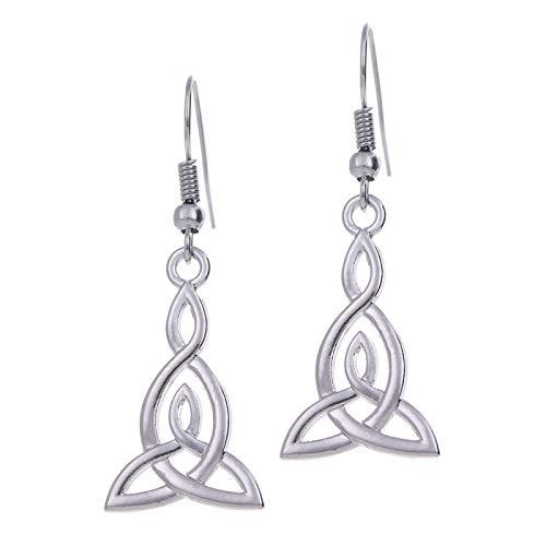 Lucky Love Triangle Knot DIY Women's Earrings, Alloy Stainless Steel Retro Tassel Earrings, Christmas, Halloween, DIY Gifts, Low Strain, Anti Allergy 111323