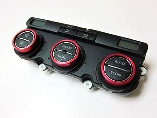 Aluminium Bezel Set For HVAC Climatronic Dial Button Gloss Red Color For Volkswagen VW Golf Jetta MK5