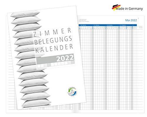 Zimmerbelegungskalender 2022 Zimmerbelegungsplan Reservierungskalender für Vermietungen von Ferienwohnungen Belegungsplan Sonn-und Feiertagen in Blau Made in Germany
