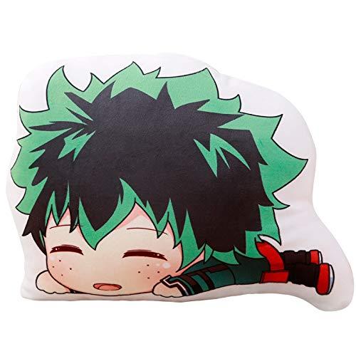 Ani·Lnc My Hero Academia Zierkissen, Anime Sofa Kissen, Extra Dick und Extra Flauschig Kuschelkissen Plüsch Puppe Kastenkissen Dekokissen für Sofa Schlafzimmer Auto