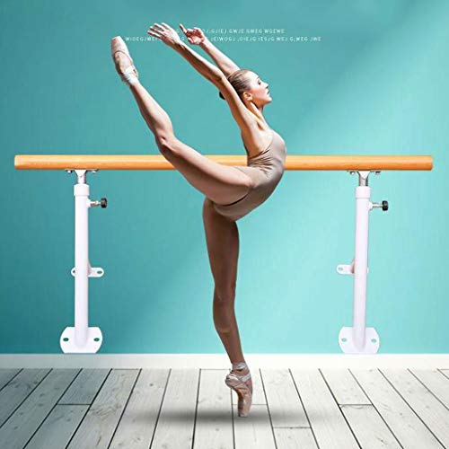 Ballet Barre Bar Ballet Barre Bar, Ballet Bar - Freestanding, Mobile, Portable, 100 X 120 cm, Height Adjustable Stretch Dance Fitness Bar (Color : White, Size : 1.5M)