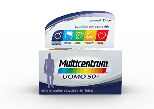 Multicentrum Uomo 50+, Integratore Alimentare Multivitaminico-Multiminerale per Uomini dopo i 50 Anni