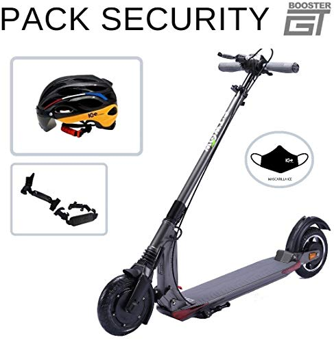 ICE E-twow Booster GT 2020 Pack Security - Casco e accessori, grigio antracite, batteria da 48 V, 10,5 Ah, motore da 700 W, casco IC Electric