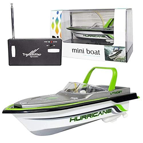 Barca RC, Imbarcazioni regata telecomandate per piscine e laghi, Mini motoscafo elettrico 2.4G HZ per bambini e adulti, Motoscafo con simulazione radiocomandata all'aperto, FUNZIONA SOLO IN ACQUA