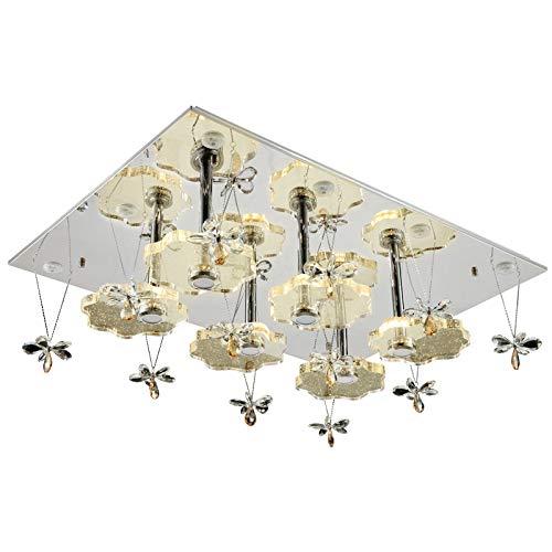 Plafonnier LED cristal 1680 101 * 76 cm Fleurs Design Couleur de la lumière de la couronne commutables séparément A + LED Lampe de salon Lampe suspension plafonnier LED Spot de plafond