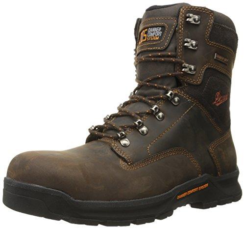 Danner Men's Crafter 8 Inch Non-Metallic Toe Work Boot, Brown, 10.5 D US
