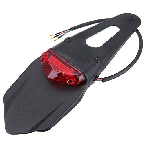 Feu arrière LED rouge pour moto hors-route