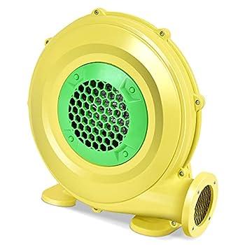 RELAX4LIFE Pompe Électrique Gonflable avec Moteur en Cuivre 350W/450W/680W, Souffleur d'air avec Ventilateur pour Château Gonflable, Maison Gonflable de Rebond de l'eau, Cavalier, Jaune (450W)