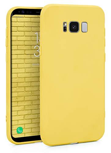 MyGadget Funda Slim en Silicona TPU para Samsung Galaxy S8 – Anti Polvo – Carcasa Mate Protectora Ultra Delgada 1mm Suave Cómoda y Ligera - Amarillo