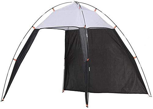 QSXF Tienda de campaña sombrilla Cubierta retráctil portátil Plegable al Aire Libre de Picnic en la Playa del Dosel Playa Protector Solar Sencilla pérgola,Grey