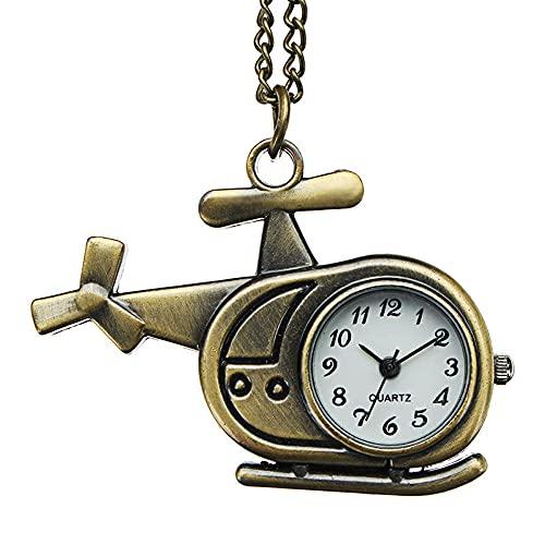 KX-YF Reloj De Bolsillo Reloj De Bolsillo De Cuarzo De Bronce Retro Creativo Colgante Collar Adecuado para Regalos Y Recuerdos.