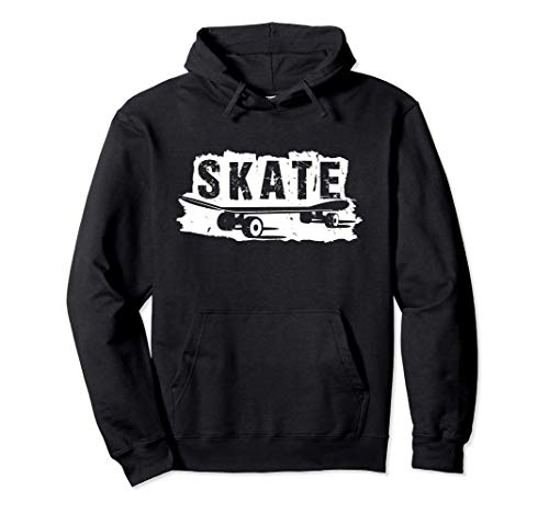 SKATE Cool Skateboard Vintage Ramp Skateboarder Hoodie Pullover Hoodie