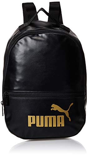 PUMA Unisex Backpack - WMN Core Up Archive Backpack, Logotipo de Puma Cat, 33x3 0x13cm (Al x An x Pr) (negro)