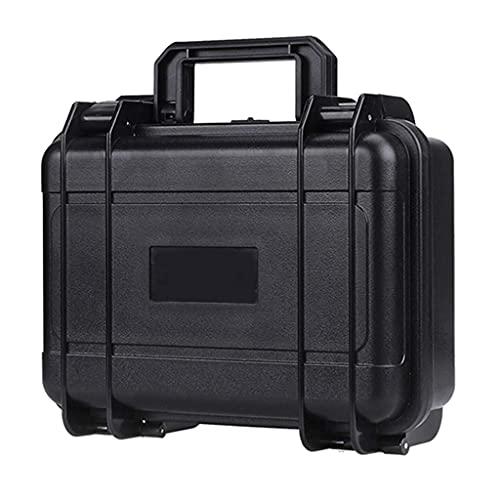 XBSXP Estuche rígido Impermeable para Herramientas, Caja de Transporte para Equipo de cámara portátil pequeña con Caja de Herramientas de Almacenamiento con Cerradura de Espuma (Negro)