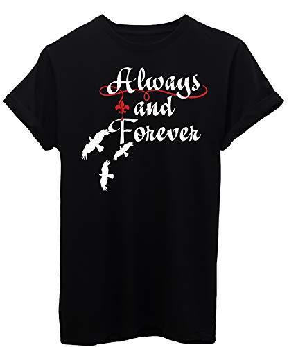 T-Shirt The Vampire Diaries Forever - Serie TV - Donna-S-Nera
