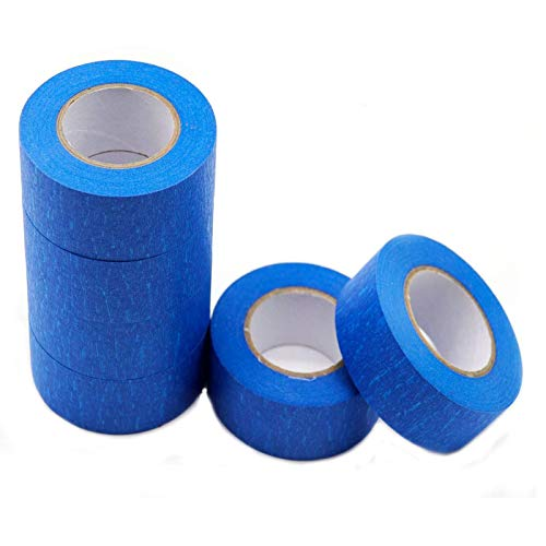 Blue Painters Tape Masking Tape 1 inch,Medium Adhesive,No Residue DIY or Professional Painter (6 Pack?22yard per roll)
