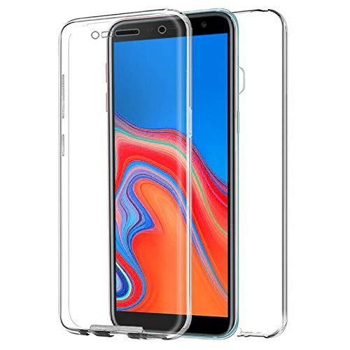 TBOC Funda para Samsung Galaxy J4+ - J4 Plus [6.0'] - Carcasa [Transparente] Completa [Silicona TPU] Doble Cara [360 Grados] Protección Integral Total Delantera Trasera Lateral Móvil Resistente Golpes