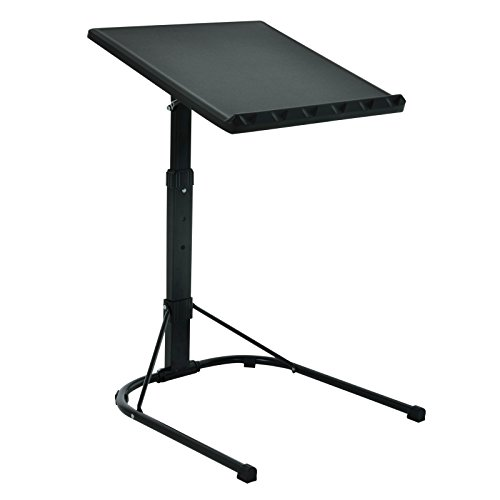 Folding Laptop Table Black With Adjustable Height and Tilt Angle Portable Gaming Computer Desk Tablet Stand Tray Bedside Sofa Armchair Crafting Jigsaw