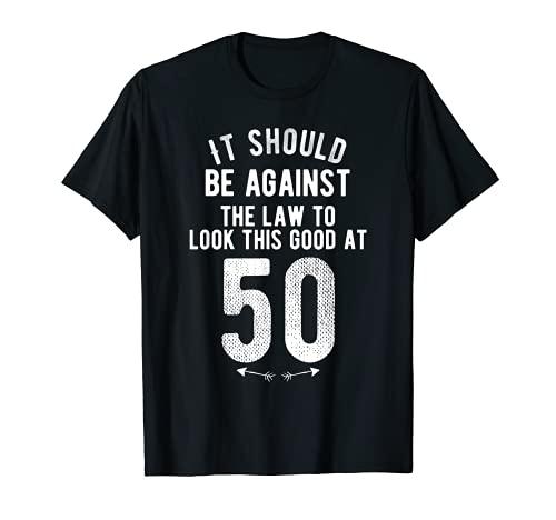 Funny 50th Birthday Gag Gift Idea 50 Year Old Joke Saying T-Shirt