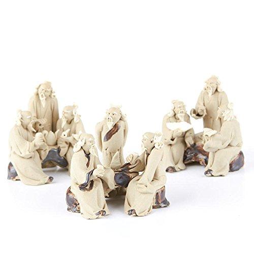 Factory Direct Craft Miniature Handcrafted Asian Mudmen Figurine | 2 Pieces