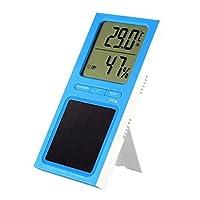ホームオフィスのためのElitech DT-6デジタル温度計温度と湿度モニターソーラーパワー