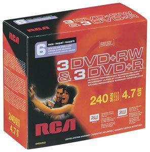 Buy Bargain RCA DVDCP33 DVD+R/RW Combo Pack (6-pk)