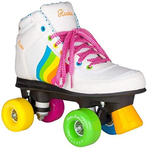 Rookie Forever Rainbow Quad Wheels Rollschuhe (weiß, 38 UK)