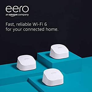 All-new Amazon eero 6 dual-band mesh Wi-Fi 6 system | with built-in Zigbee smart home hub | 3-pack