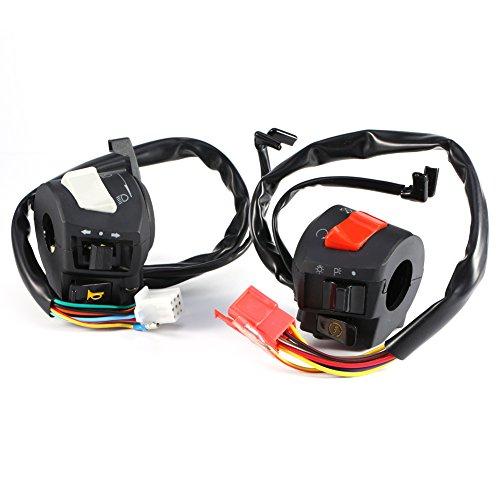 Motorcycle 7/8 Handlebar Horn Turn Signal Headlight Electrical Start Switch