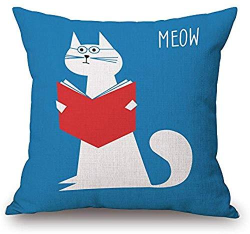 Tedtte Dekokissenbezug Cartoon Cute Cat Bettwäsche, Polyester Kissenbezug Kissenbezug 45 X 45 cm