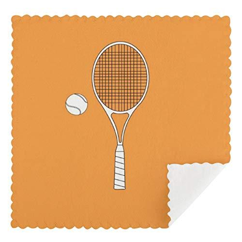 Juego de 2 toallas de cocina reutilizables, raqueta de tenis y pelota, mojo americano, absorbentes, lavables a máquina, paños de cocina y bar