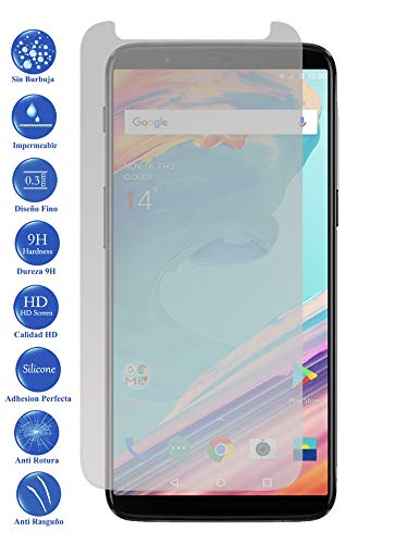 Todotumovil Protector de Pantalla OnePlus 5T de Cristal Templado Vidrio 9H para movil