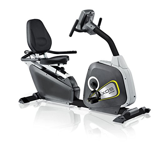 Kettler Heimtrainer Fahrrad AXOS Cycle R – idealer Sitzheimtrainer mit Griffbügel – mit 12 Programmen und 4-Personen-Speicher – inkl. Trainingscomputer und Handpulssensoren – schwarz & anthrazit