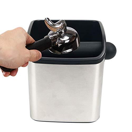 Espresso Klopfbehälter The Knock Box, Abschlagbehälter, kaffeesatzbehälter, Barista Zubehör zum Kaffeesatz sammeln & recyceln