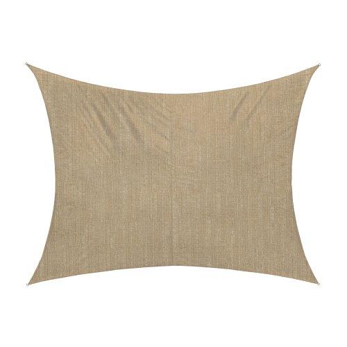jarolift Sonnensegel Rechteck atmungsaktiv, 400 x 300 cm, Sand