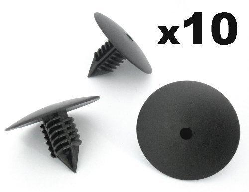 10x Clips Para Paso De Rueda Guardabarros Cabeza 35mm Para Remaches Plásticos - Coche Grapas