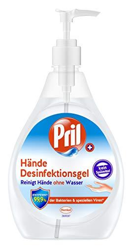 Pril Desinfektionsmittel für Hände und Oberflächen, 480 ml, entfernt 99,9 Prozent der Bakterien und speziellen Viren, Spender für Zuhause oder das Büro