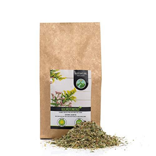 Infusión de vara de oro (250 g), té de vara de oro cortado, Hierba vara de oro secada suave, 100% puro y natural, té de hierbas