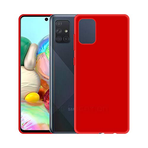 Case Creation Luxurious OG Series for Samsung A51 Case Cover,Anti-Dirty Slim Case Frosted Matte Cute Candy TPU Raised Bezel (Splash of Color) Back Cover for Samsung Galaxy A51 - Glamour Red