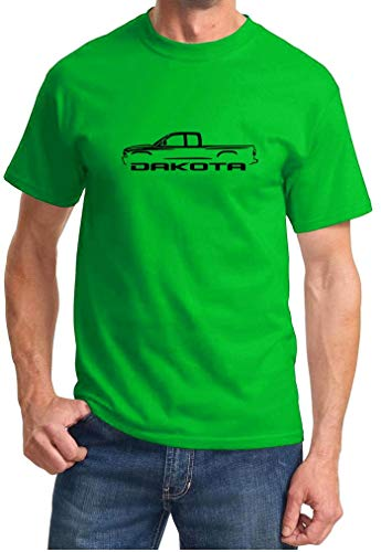 Jacen shop Dakota Pickup Truck Classic Outline Design - Camiseta, multicolor, 4XL