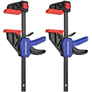 WORKPRO 6-Inch/150mm Ratchet Bar Clamp Set, Heavy-Duty Bar Clamp/Spreader, Quick Release and One-Handed Clamp, Ideal for Woodworking and DIY Projects, 2-Pack